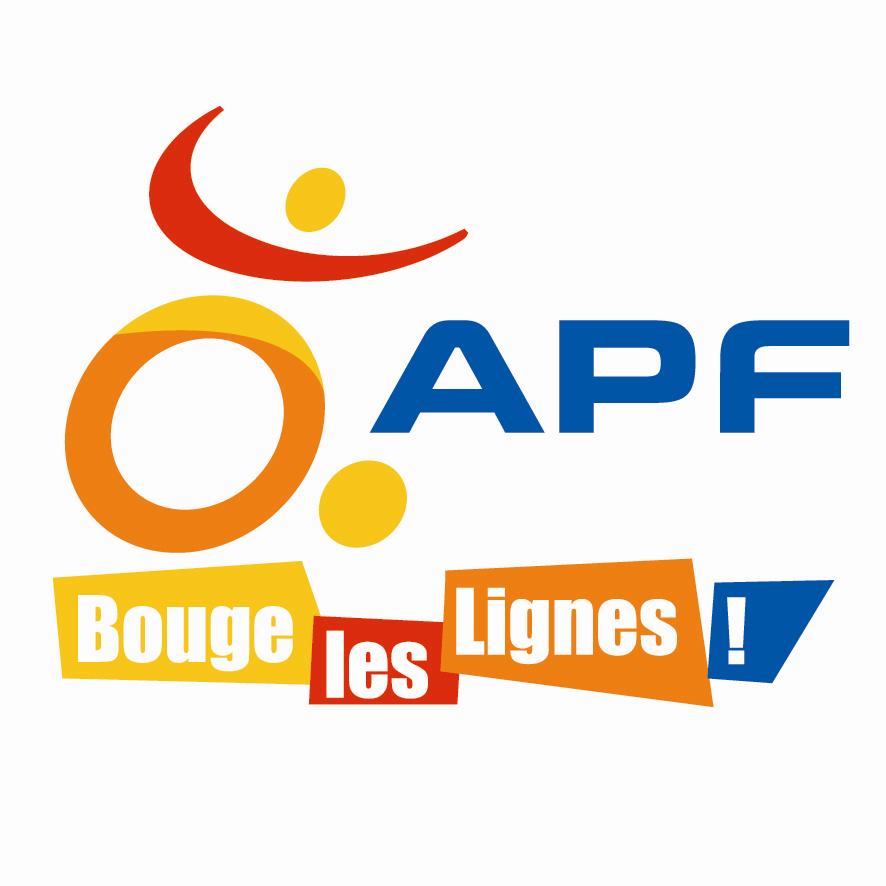 Logo de l'association des paralysés de France APF, partenaire du garage Barolle et fils