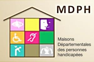 Logo MDPH, la maison départementale des personnes handicapées